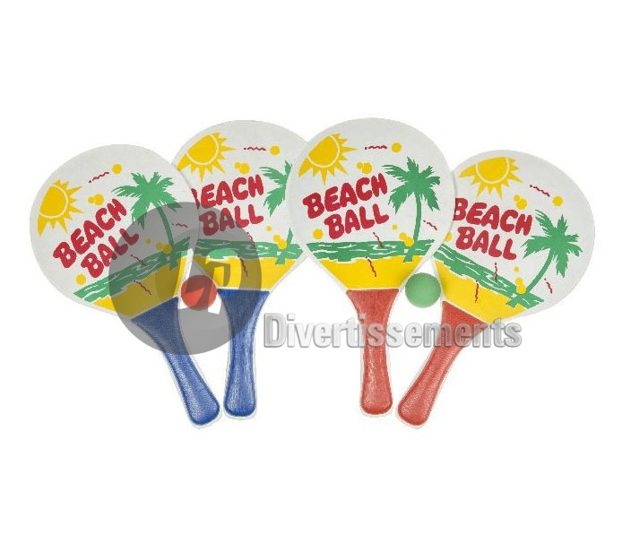 lot de 2 raquettes de plage Beach Ball + 1 balle
