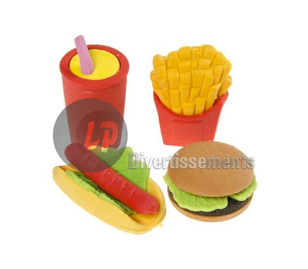 set gommes fast food 4pcs