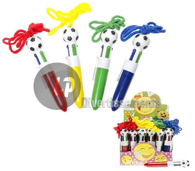 stylo bille FOOT 4 couleurs 12cm
