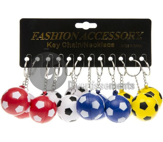 porte-clefs ballon de football 4cm