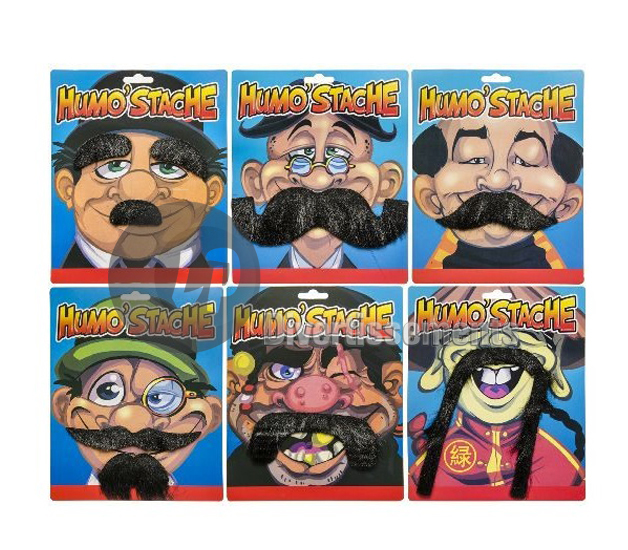lot de 6 moustaches MIX