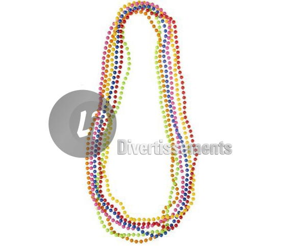 lot de 6 colliers mardi gras MIX 40cm