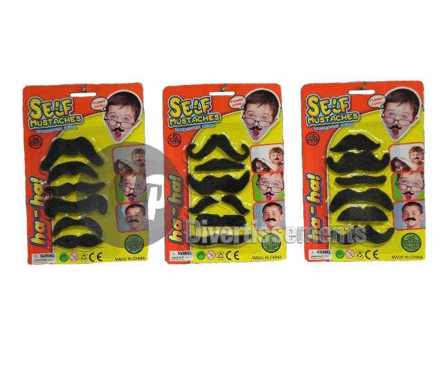 lot de 6 moustaches 8cm MIX