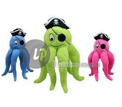 peluche pieuvre pirate MIX 28cm