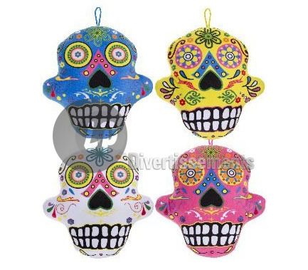 coussin peluche crane Day of the dead MIX 29cm