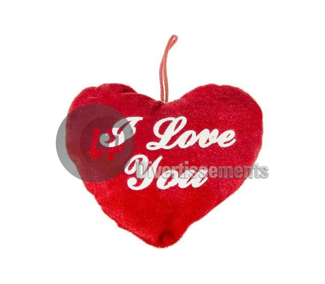 coeur en peluche I LOVE YOU 13cm