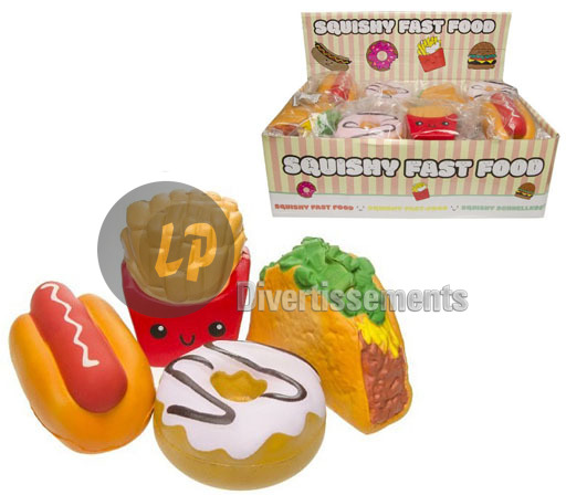 squishy fast food anti stress MIX 7x11cm
