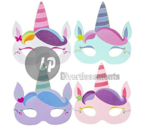 masque mousse LICORNE MIX