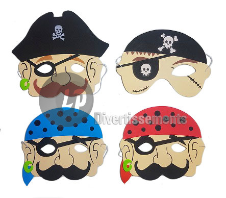 masque mousse pirate pour enfant MIX