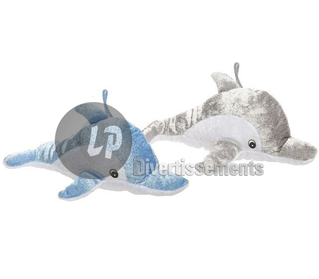 lot de 180 peluches dauphins scintillantes MIX 29cm