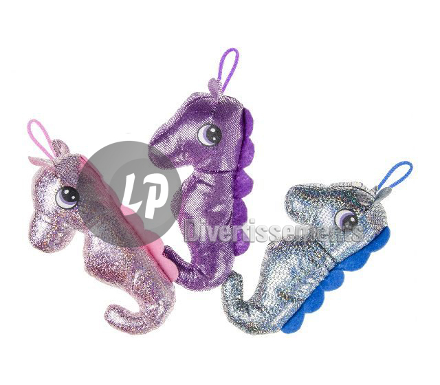 lot de 300 peluches hippocampes scintillantes MIX 20cm