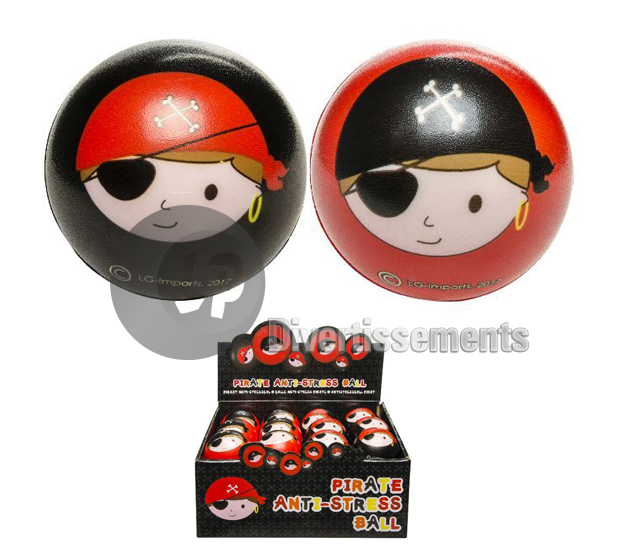 balle anti stress PIRATE MIX 6cm