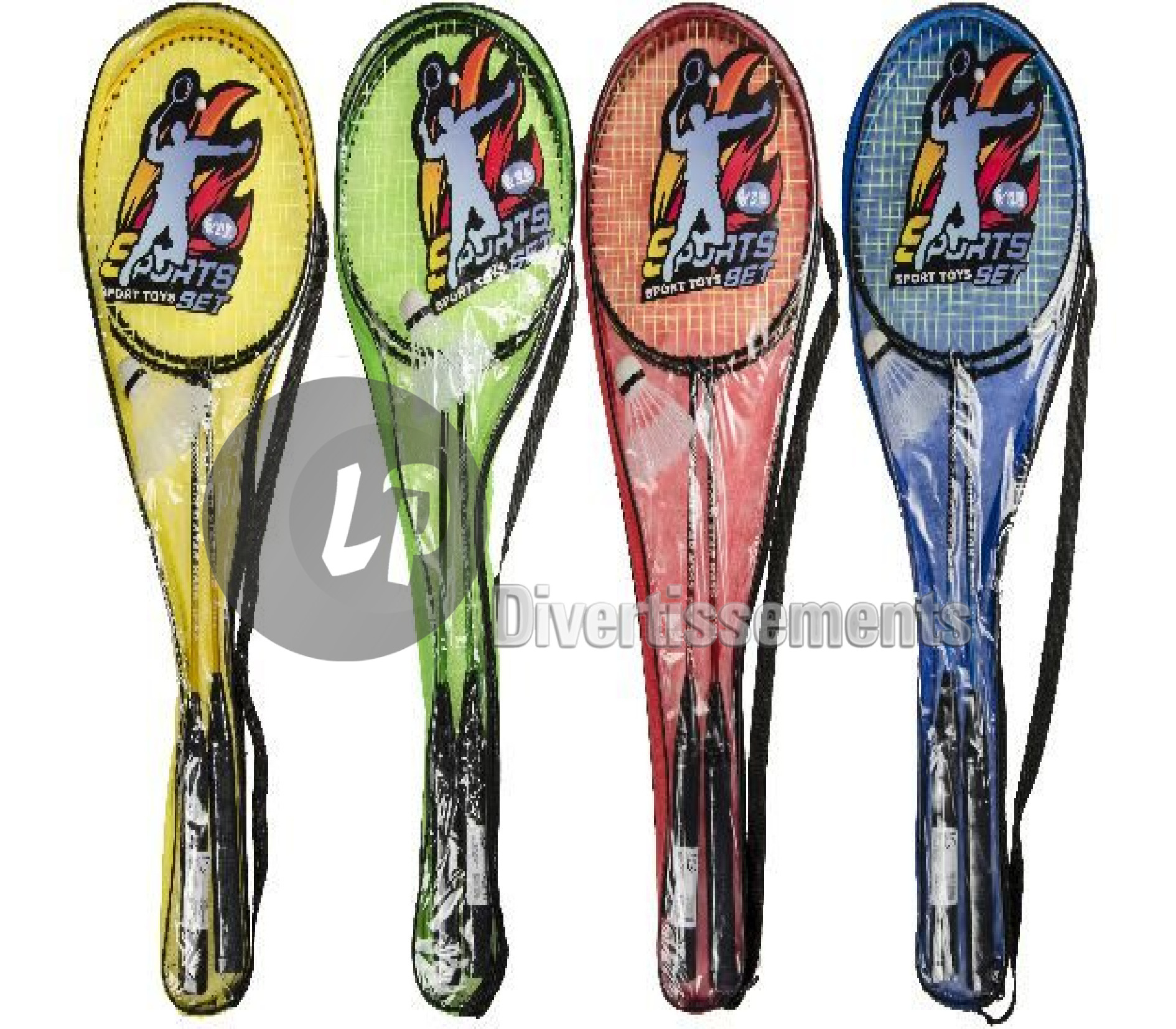 set de badminton 2 raquettes MIX