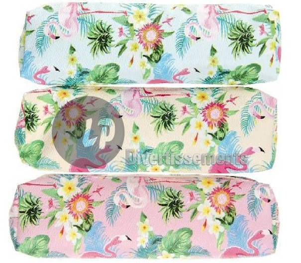trousse flamant rose MIX 23cm