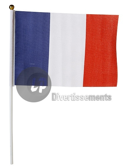 drapeau FRANCE lot de 12 drapeaux 15x22cm