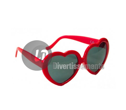 lunettes gag coeur ROUGE