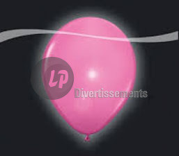 lot de 5 ballons LED lumineux ROSE