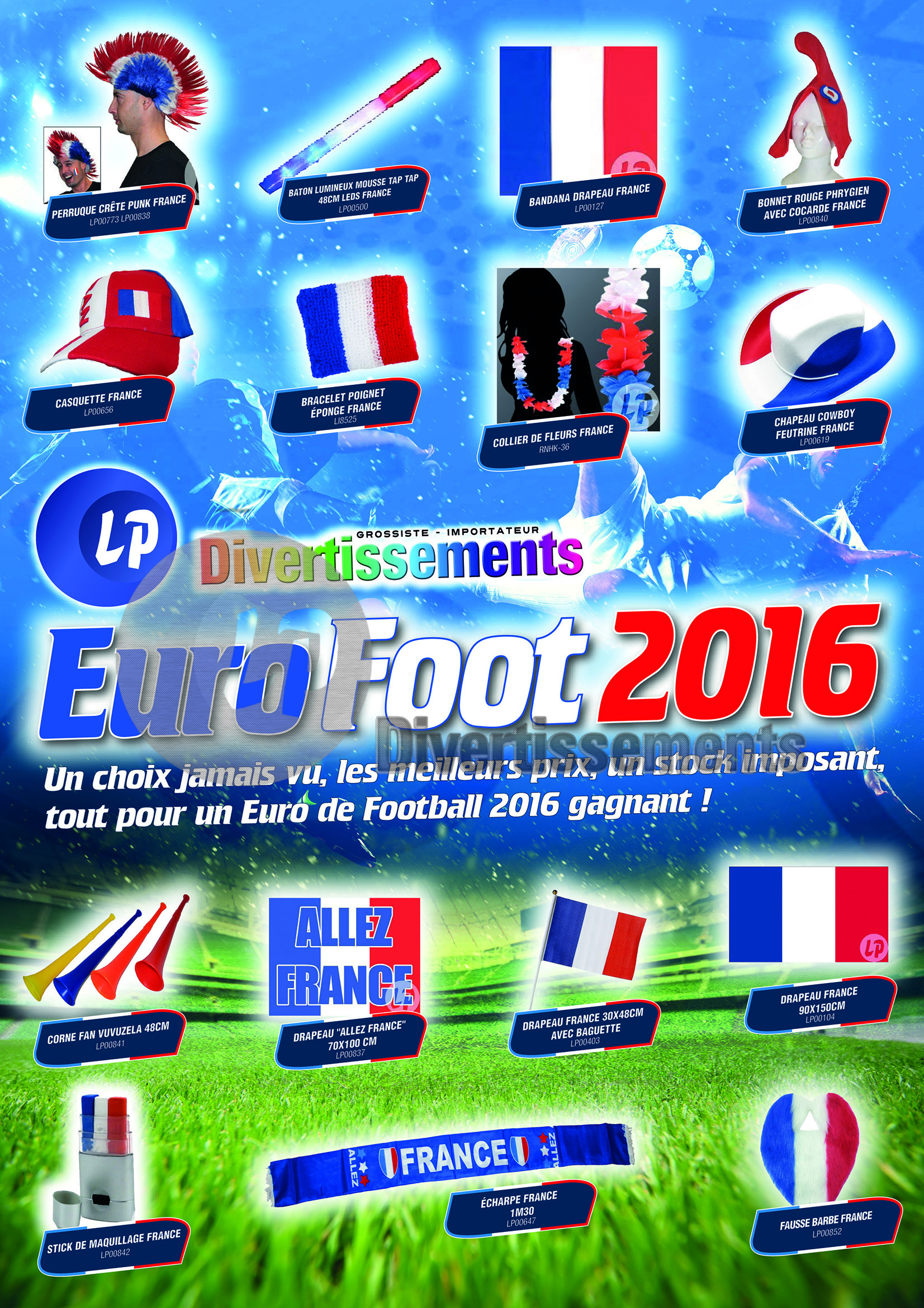 accessoires supporter france football foot euro 2016 jeux olympique jo basket rugby handball volleyball articles de fte pour supporter france bleu