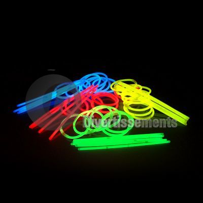 lot de 100 bracelets fluo ROUGE
