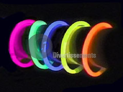 lot de 15 bracelets fluo COLORIS ASSORTIS (pr�sentoir)