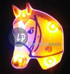 badge/magnet LED tête de cheval