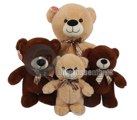 peluche ours MIX 25cm