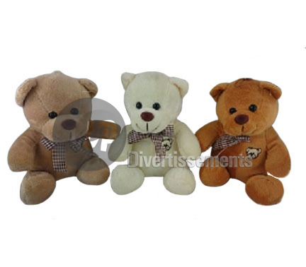 peluche ours MIX 17cm