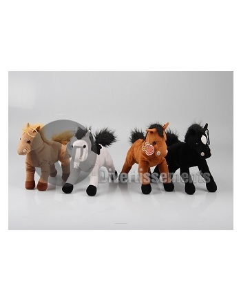 peluche cheval/poney MIX 22cm
