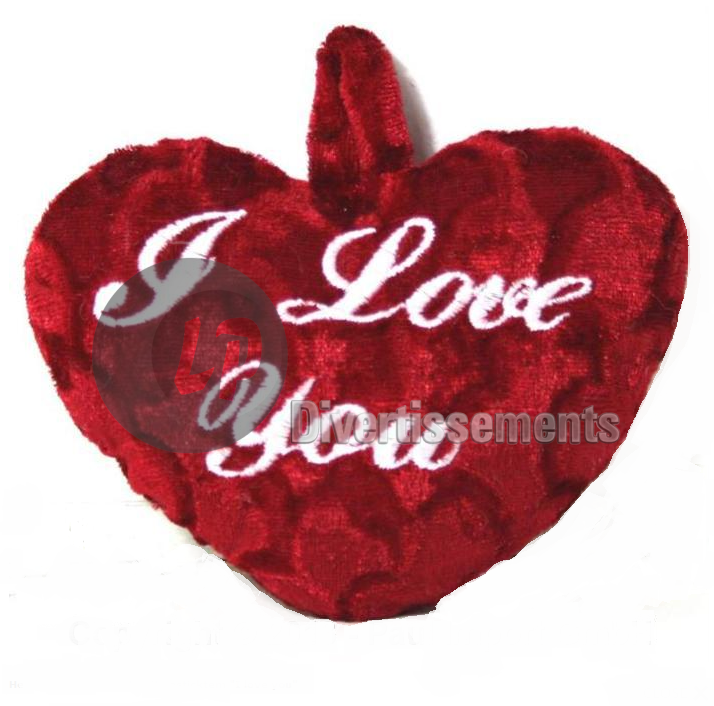 coussin coeur I LOVE YOU 25cm
