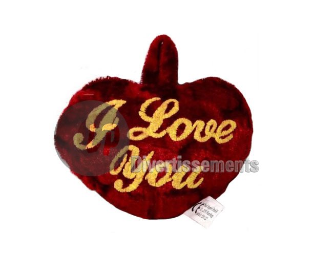 "coeur en peluche Saint Valentin ""I love you"" 9cm"