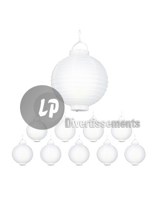 lampion lumineux LED BLANC 20cm