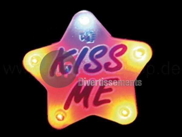 badge/magnet LED Kiss me