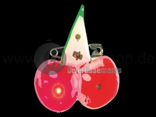 badge/magnet LED cerises