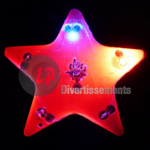 badge/magnet LED étoile ROUGE