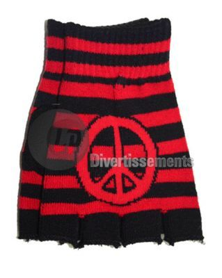 paire de mitaine Peace & Love ROUGE