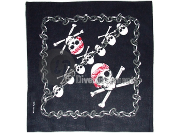 bandana pirate 9 crânes