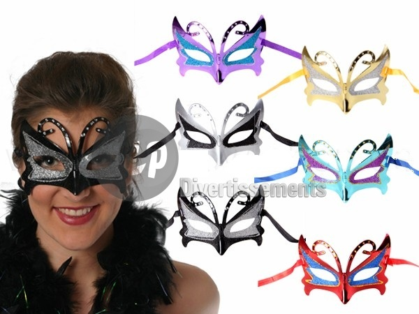 masque loup papillon MIX