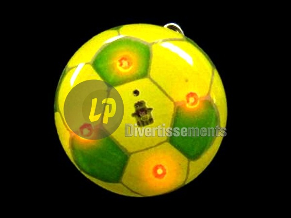 badge/magnet LED football jaune & vert