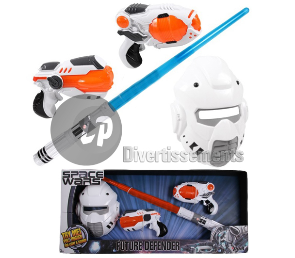 set space wars 4pcs pistolets sabre et masque ENFANT