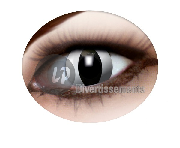 lentilles de contact SERPENT BLANC