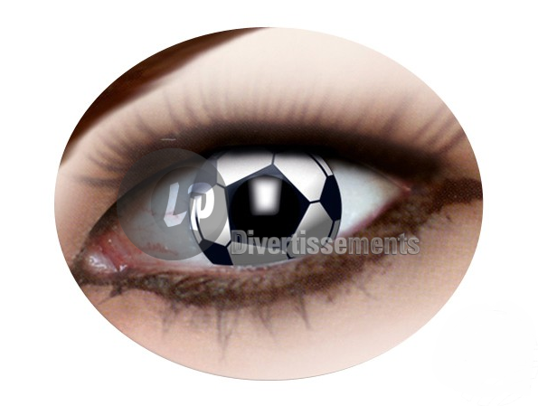 lentilles de contact ballon de football