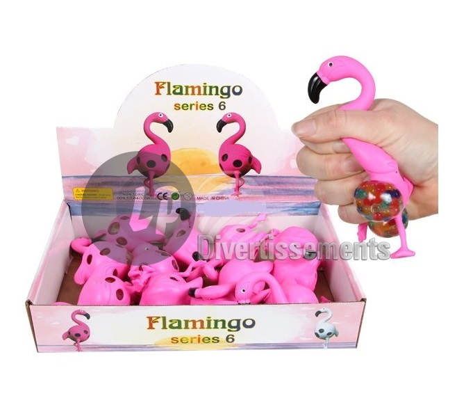 anti stress Squishy Quetschball FLAMANT rose 6cm