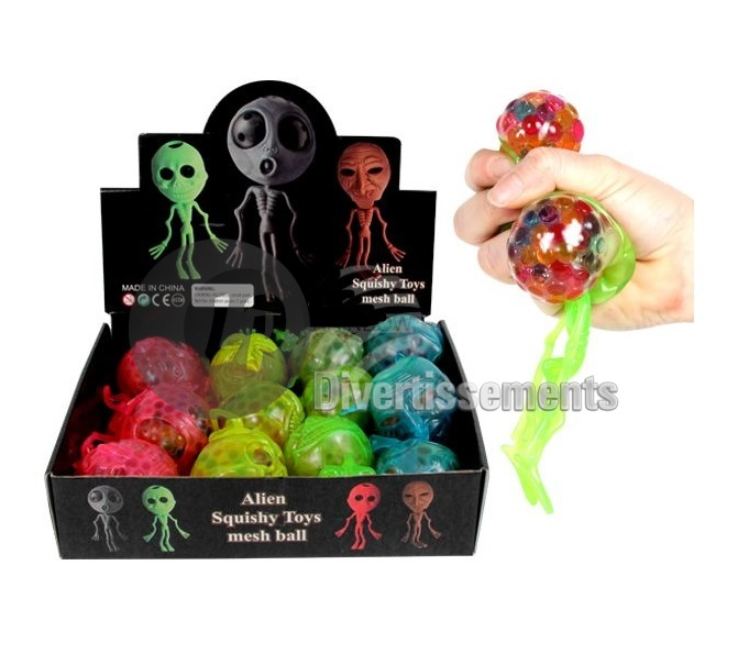 anti stress Squishy Quetschball ALIEN MIX 7cm