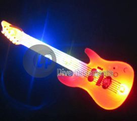badge/magnet LED guitare rouge
