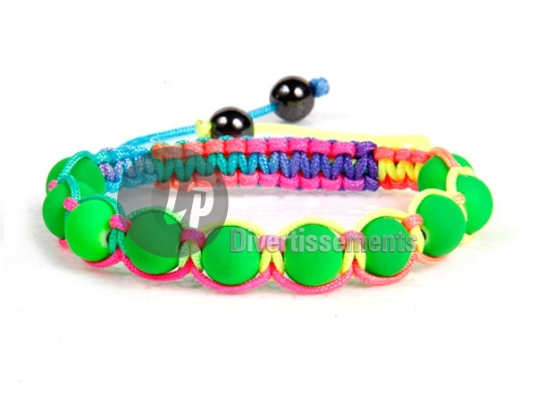 shamballa Bracelet<br> &amp; multicolored<br>neon green