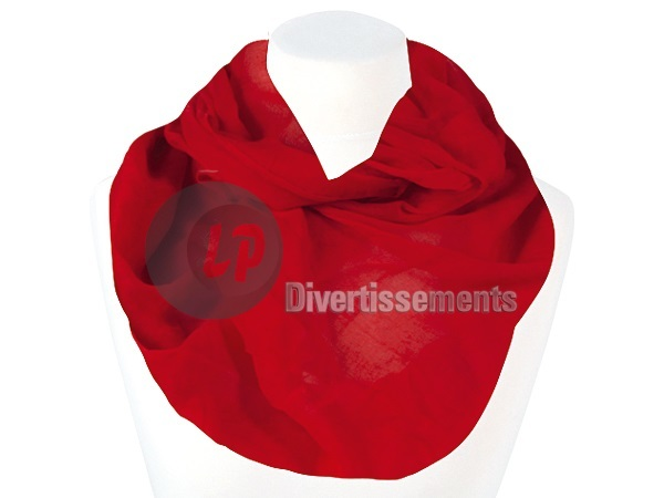 foulard tube UNI ROUGE