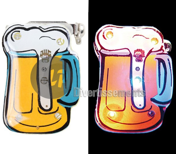 badge LED pinte BIERE