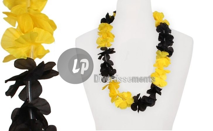 collier tahiti jaune noir 70mm