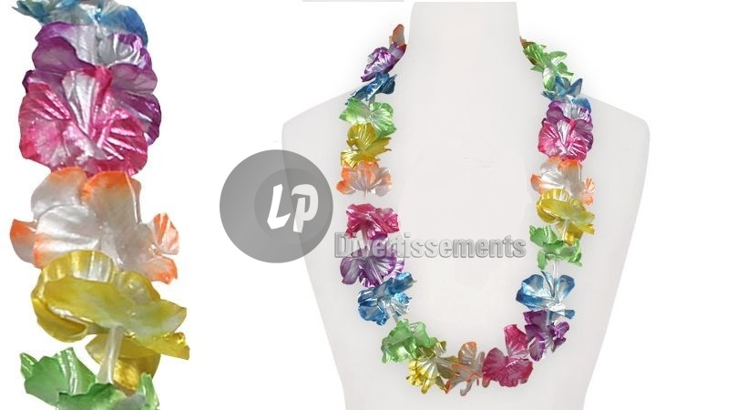 collier Tahiti arc en ciel brillant 60mm