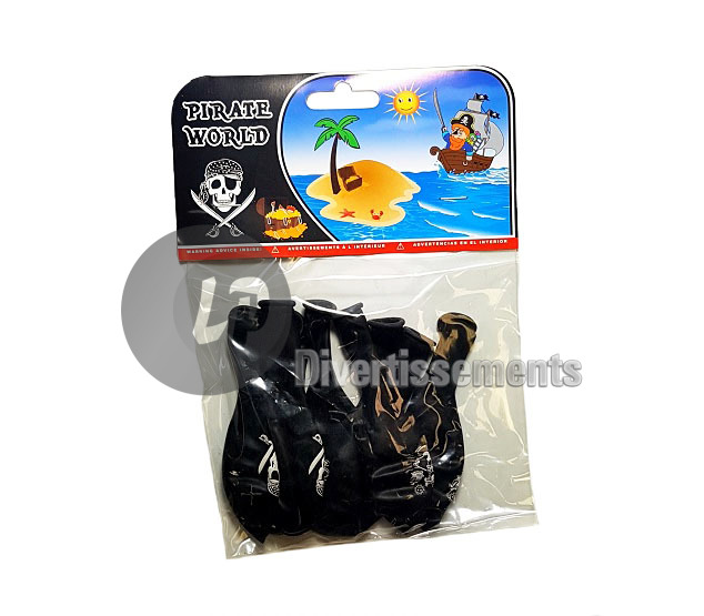 lot de 8 ballons pirate